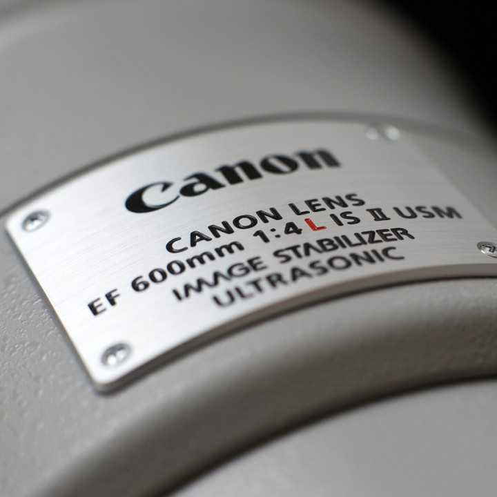 Canon EF 600 F4 L IS II na dostizích