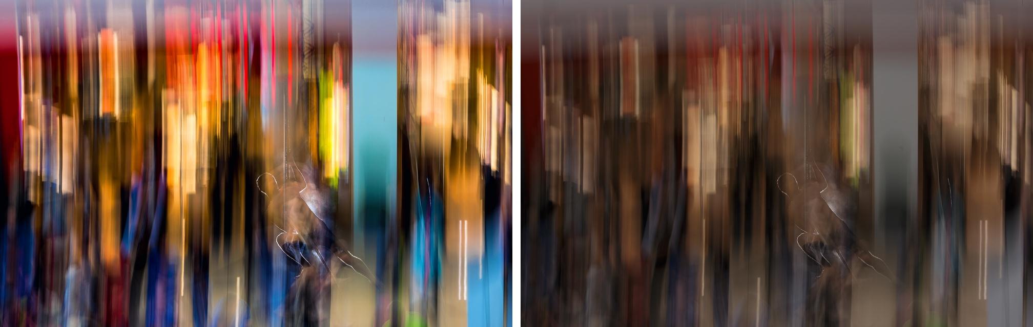 Lokální kontrast, kontrast, saturace s cílem vytáhnout zejména modré barvy