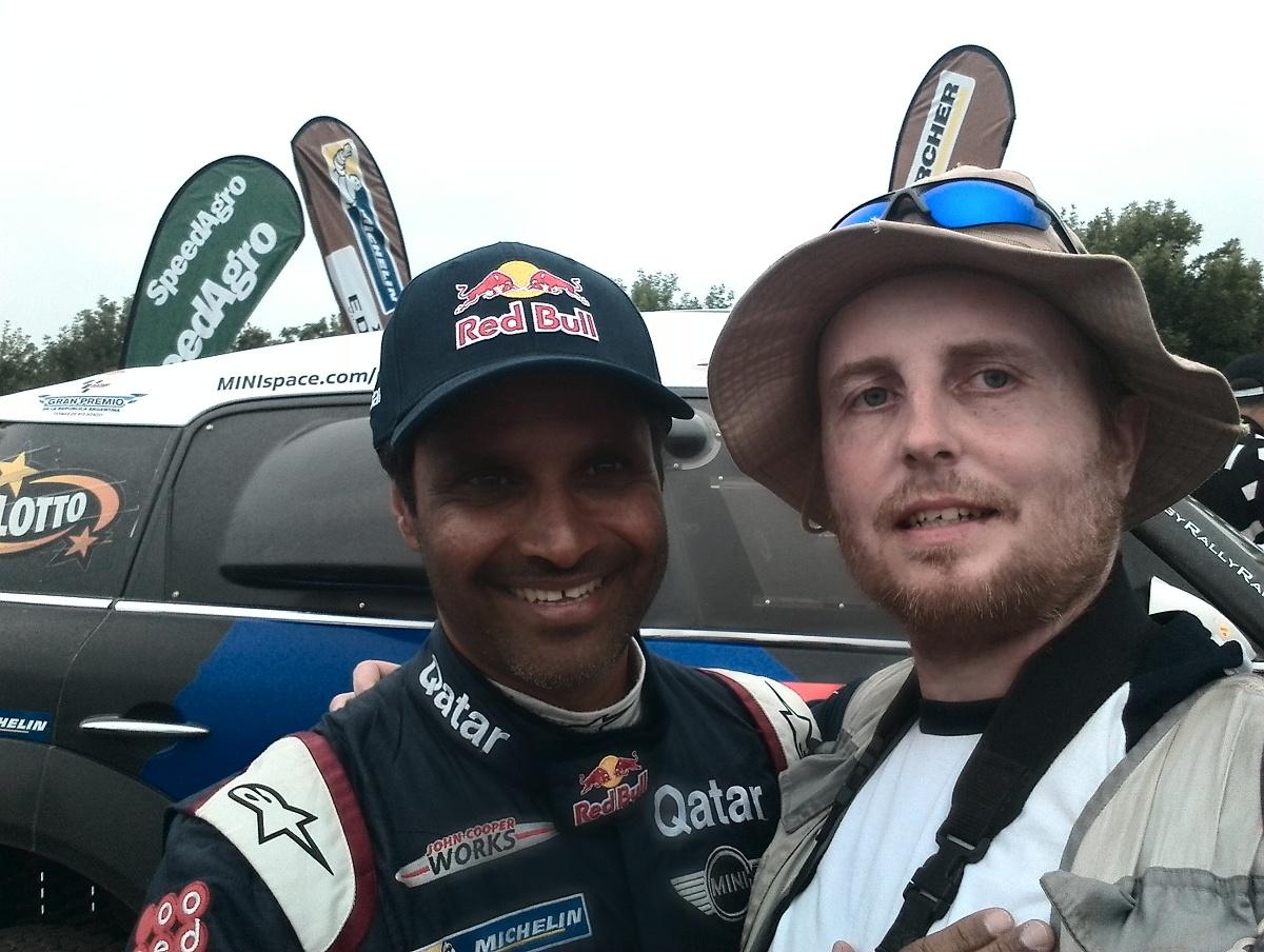 Selfíčka s vítězi: z Nasserem Al-Attiyah