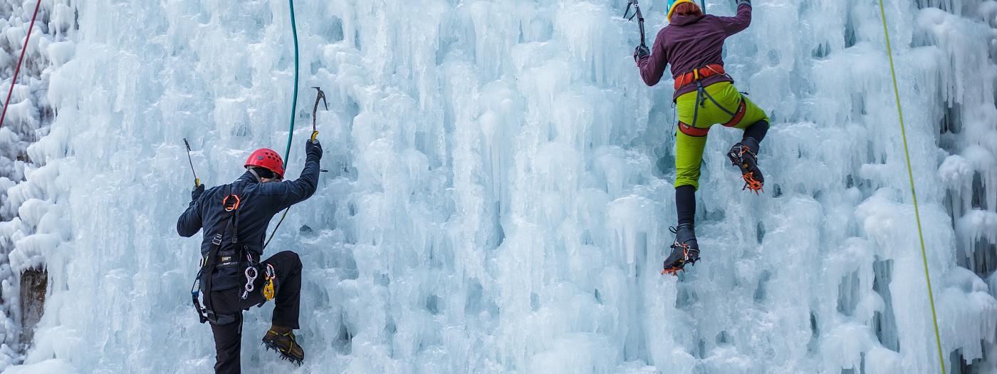 Ledová stěna v Liberci