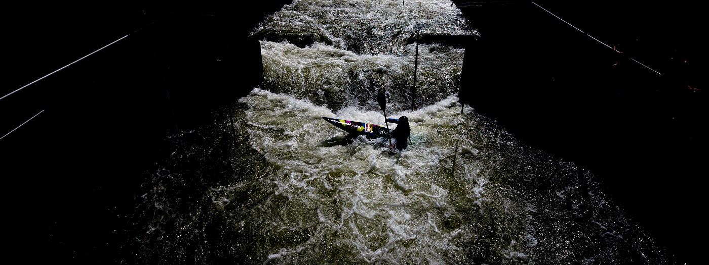 Trénink vodních slalomářů na Trnávce
