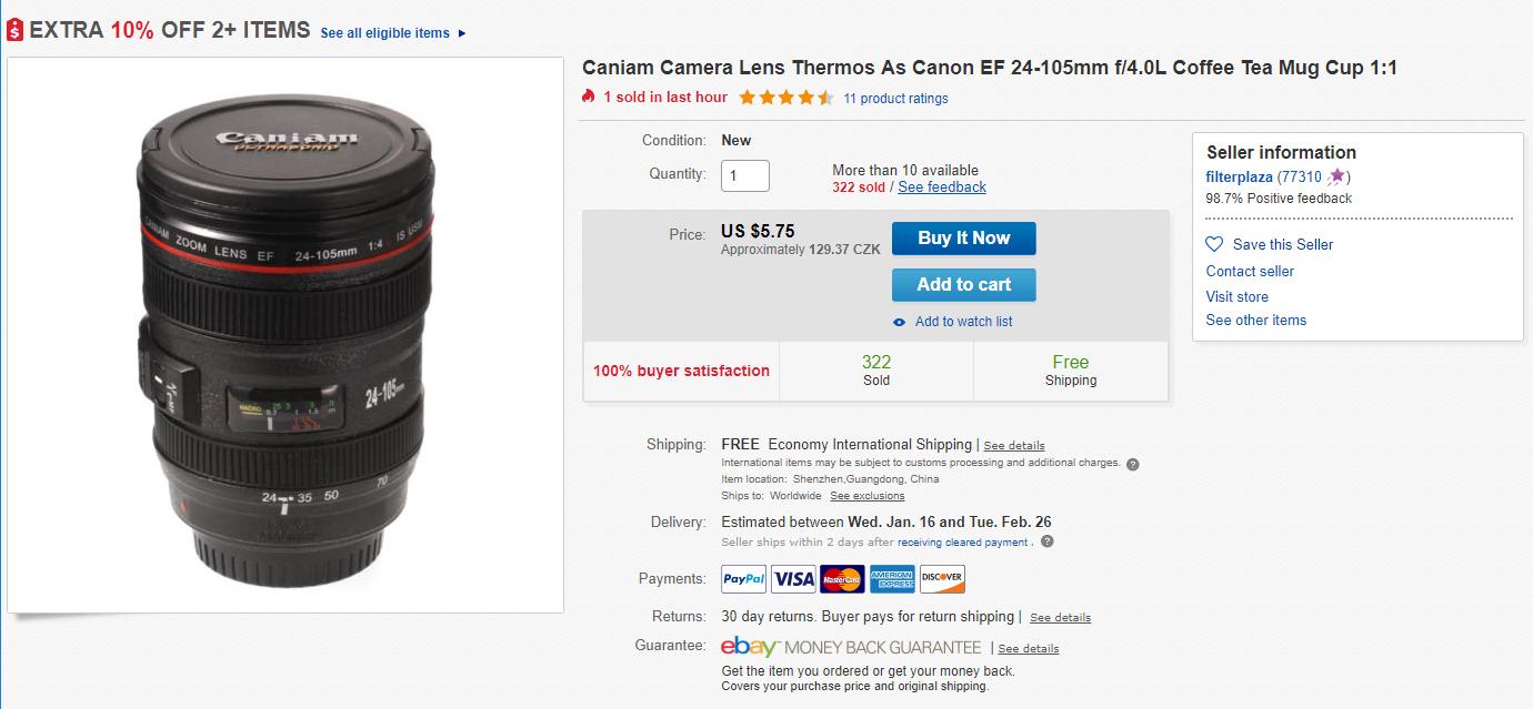 Hledejte Canon/Nikon Lens Mug
